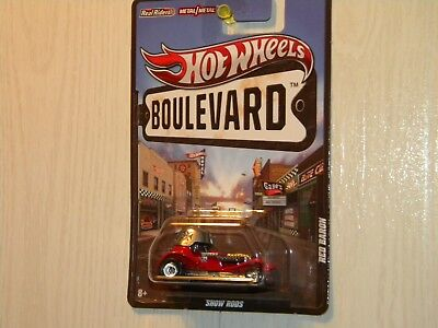 Hot Wheels 2012 Boulevard Series Red Baron Show Rods Red Paint