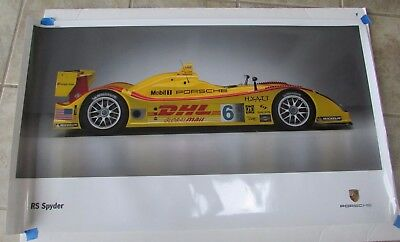 """Porsche RS Spyder Poster Penske ALMS - laminated – used good condition 38"""" by 22"""