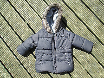 GEORGE Boys Padded Hooded Coat  Age 6-9 months