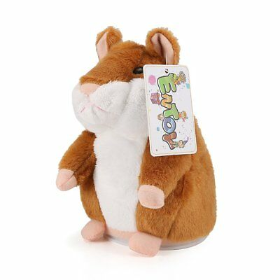 ENTOY Talking Hamster Sound Repeating Animal Toy Talking Plush Toys for Children