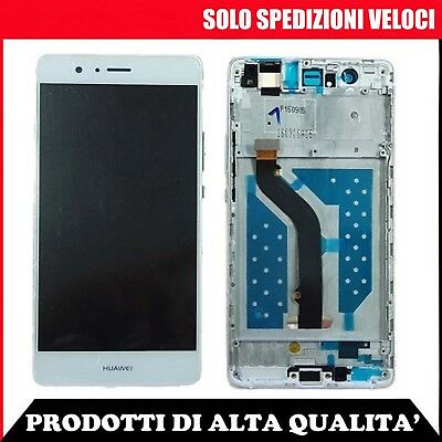 Lcd Display + Touch Screen Vetro + Frame Huawei P9 Lite Vns-L31 Vns-L23 Bianco