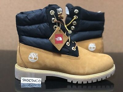 2017 Timberland X The North Face 6 Inch Puffer Nuptse Wheat Premium Size 8-13