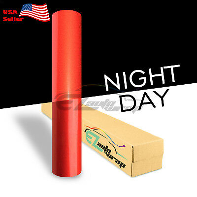 """4""""x8"""" Sample Reflective Red Vinyl Wrap Sticker Decal Graphic Sign Adhesive Film"""
