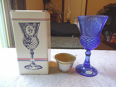 "Vintage "" NIB "" Avon The Martha Washington Goblet Fostoria Candle Holder With"