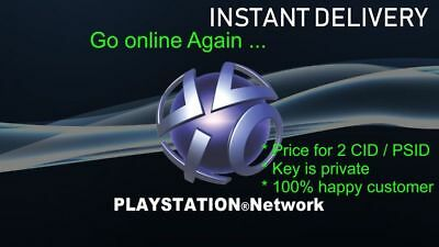 PS3 CONSOLE ID ps3 CID IDPS PSID , unban your ps3 - price for 2 CIDS