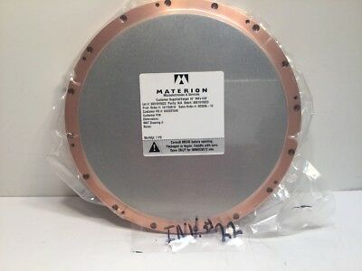 """Materion NiFe 14W Sputter Target 10""""Dia #US2227245. 553255-10 ZTH8000 NOS Sealed"""