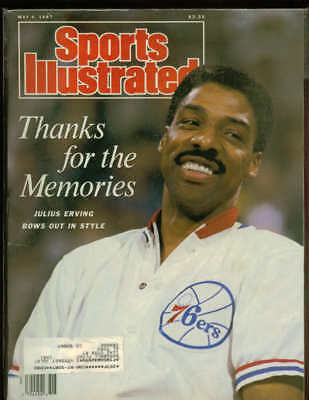 JULIUS ERVING Sports Illustrated May 4 1987