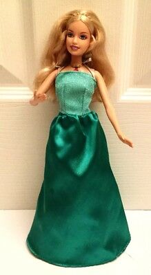 BARBIE ISLAND PRINCESS SINGING ROSELLA Doll w/Green Gown Shoes SINGS Tested
