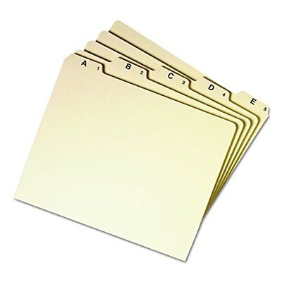 Smead 50176 Recycled Top Tab File Guides Alpha 1/5 Tab Manila Letter Set of 25
