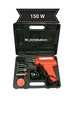 New Electrical Soldering Iron Gun Kit 150 Watt With Case With Two Extra Tips