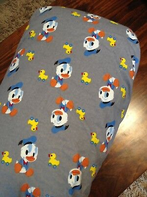 Brand New Hand Made Grey Ducks Flannalette Fitted Change Table Cover, Mat Nappy