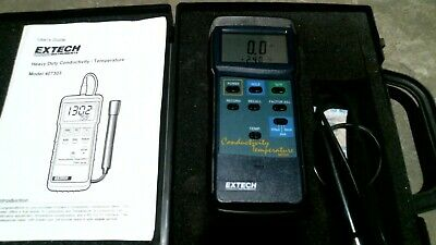 Extech 407303 Conductivity Temperature Meter W/Case  -Free Shipping