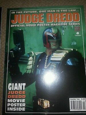 2000 AD - JUDGE DREDD Movie Poster Magazine  - No 2 -- titan books