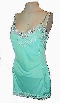 Chemise, The Limited, Turquoise-Blue stretch Lace, M