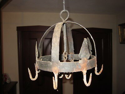 Antique Wrought Iron Hanging Meat and Pot Hook. Blacksmith made.