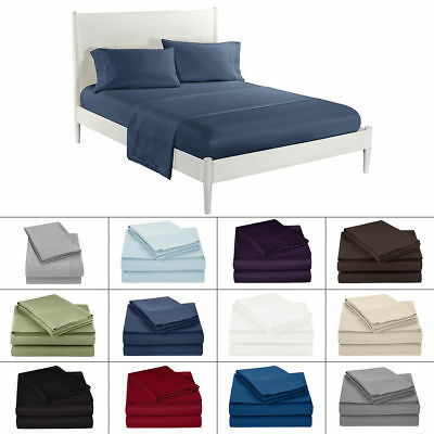Solid All Colors & Sizes Bed Sheet Sets 1000 Thread Count Egyptian Cotton