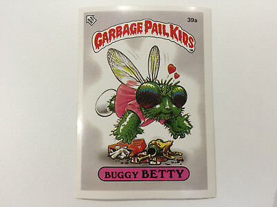 1985 UK Garbage Pail Kids 1st Series Card : 39a Buggy BETTY
