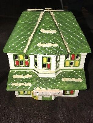 VINTAGE DEPARTMENT 56  SNOWHOUSE SERIES BAKERY- 1983  (Light included) VERY RARE