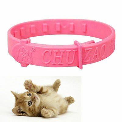 2X Adjustable Pet Collar Cat Protection Neck Ring Flea Tick Mite Louse Remedy FT