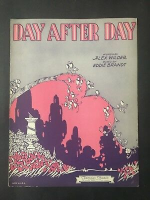 Day After Day 1931 Vintage Sheet Music