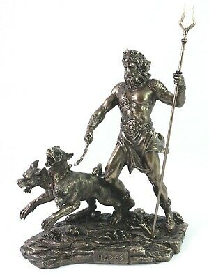 "Hades Lord of the Underworld Pluto Greek Statue Dead Bronze Finish 7.87"" 20cm"