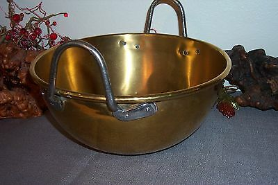 """Vintage Brass Confection Candy Whipping Bowl Cooking Large Heavy 10 5/8"""" X 4 5/8"""