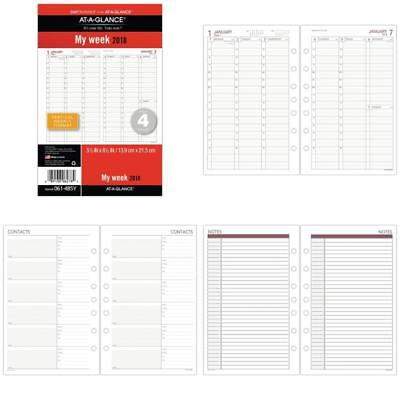 At-A-Glance Day Runner Vertical Weekly Planner Refill Size 4 - Loose-Leaf