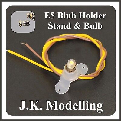E5 LED Bulb + Holder & Stand (1pc or 2pcs) Bulb is Warm White