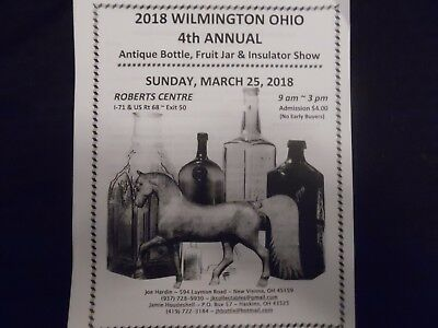 Two Sales Table at the Wilmington Ohio Bottle Fruit Jar & Insulator Show 3/25/18