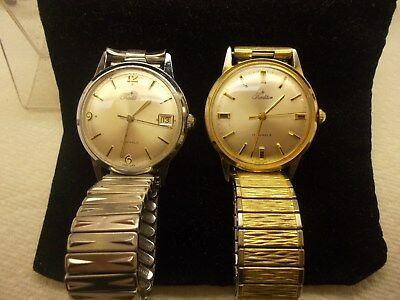 Lot Of Two,vintage,tradition/sears,17 Jewel ,goldvtone & Silver Tone..mans..work