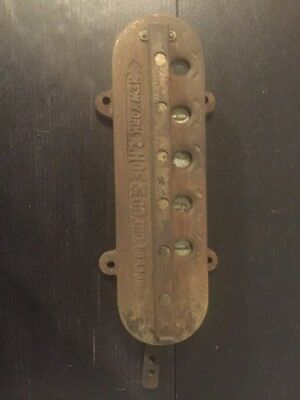 Antique R. Hoe & Co. Inc. New York London Printing Press Counter