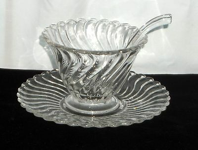 Fostoria COLONY CRYSTAL *3PC MAYONNAISE SET*
