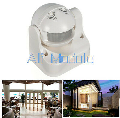 240V Outdoor 180 Degree Security PIR Motion Movement Sensor Detector Switch MO
