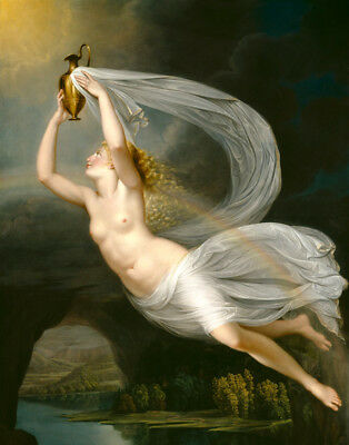 Iris Carrying the Water of the River Styx Oil painting printed on canvas L1674