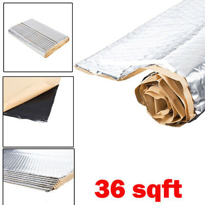 Bulk Pack 36 Sq Car Auto Van Sound Proof Deadener Super Stick Free (9 Sheets)