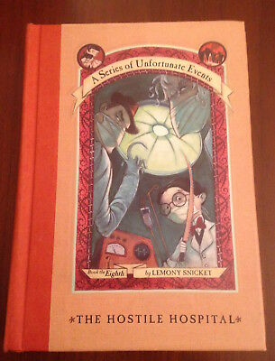 SIGNED 1st/1st Lemony Snicket THE HOSTILE HOSPITAL #8 Series Unfortunate Events
