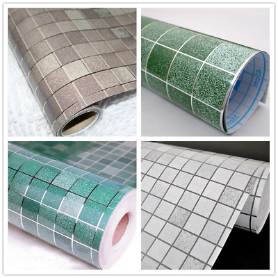 Mosaic Wall Paper Self-adhesive Sticker Tile Contact Paper Bathroom Waterproof