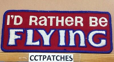I'd Rather Be Flying Airplane Pilot Aviation Patch
