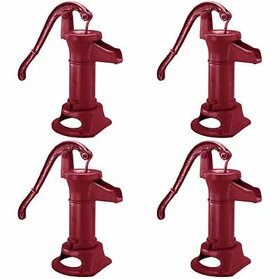 Heavy Duty Cast Iron Well Water Pitcher Hand Pump Red Max Lift Shallow Pumps New