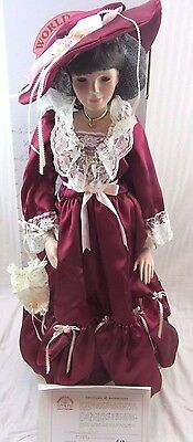 """""""Jacqueline"""", Norma Rambaud Porcelain Doll, 30"""" Tall, World Gallery Doll"""