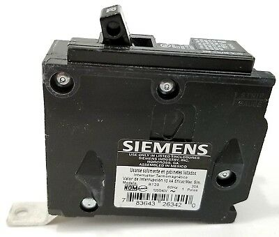 SIEMENS BL120 B120 1 POLE 20 AMP 120v BREAKER TYPE BL BOLT ON SINGLE POLE