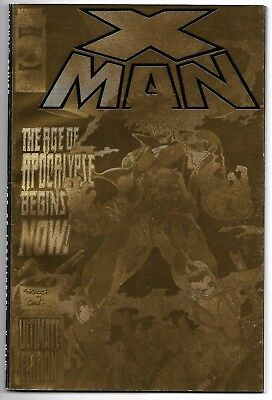 X-Man Ultimate Edition Nm- 1995 Gold Foil Age Of Apocalypse Tpb Marvel Comics