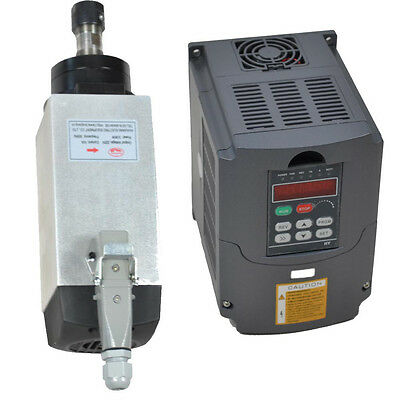 4Kw  220V Air-Cooled Motor Spindle And Vfd Inverter Drive Ce 4 Bearings