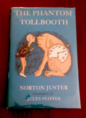 RARE 2X Signed THE PHANTOM TOLLBOOTH Norton Juster Jules Feiffer 1962 UK 1st/1st