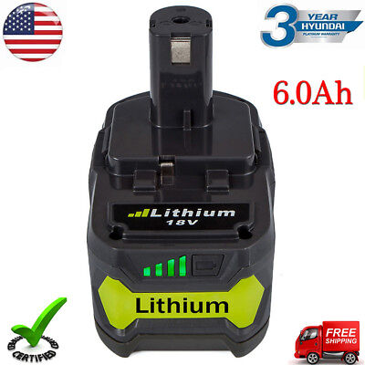 6.0AH One Plus P108 18V Max Lithium Battery for Ryobi P104 P105 P102 Cordless US