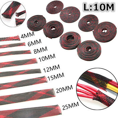 10M Insulation Braided Sleeving Gland Cables protection  4/6/8/10/12/15/20/25mm