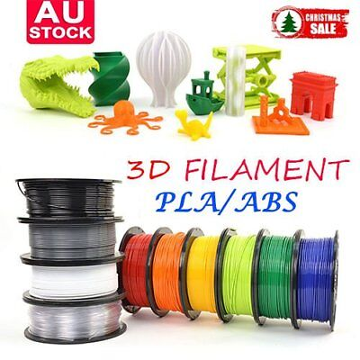 3D Printer Filament 1.75mm ABS PLA 1KG/Roll Colours Engineer Drawing Art AUS