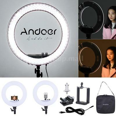 "Andoer 18"" Ring LED Video Light Continuous Lamp 3200K-5500K Dimmable #USA STOCK#"