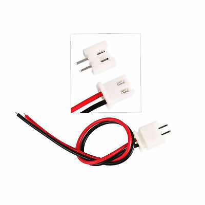 10 Sets JST 2.5-2 Pin Battery Connector Plug Female & Male with 200MM Wire US
