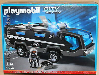 playmobil 5564 city sek einsatztruck mit licht und sound. Black Bedroom Furniture Sets. Home Design Ideas